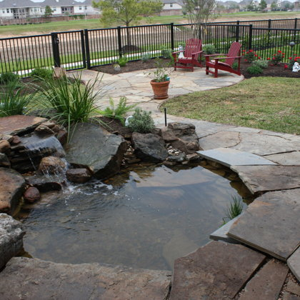 Custom Waterfall with Flagstone
