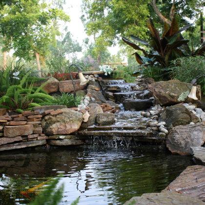 Custom Backyard Waterfall